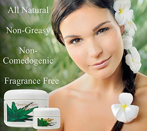 Hawaiian Moon Aloe Cream - 9 Oz Skin Care Jar and .75 Oz Travel Size Jar