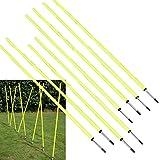 "BlueDot Trading Soccer Agility Training Poles (8 Poles), 5' 8-1/4"""