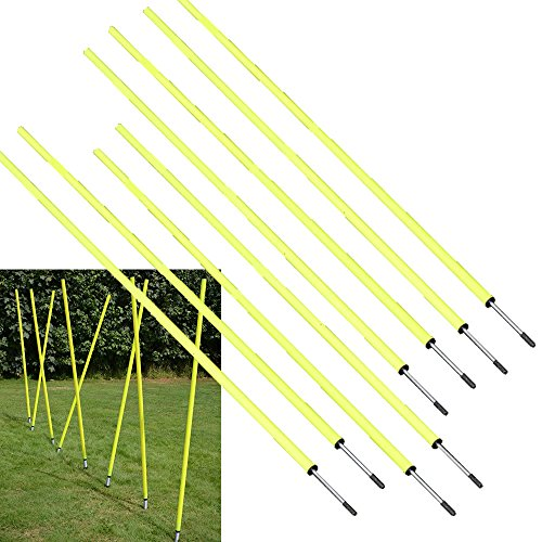 Bluedot Trading Soccer Agility Training Poles, Fixed 5ft (8pc) ()