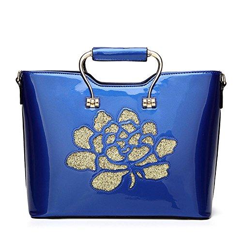 Aoligei À la mode féminin paquet marée européens et américains en cuir verni en cuir brillant sac besace bandoulière de gros Baotan B