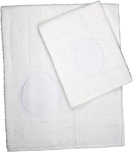 Bianco Magie di Casa Coppia Asciugamano+Ospite da Ricamare Taglia Unica