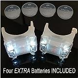 Bright Eyes 2-Pack White Portable Marine LED