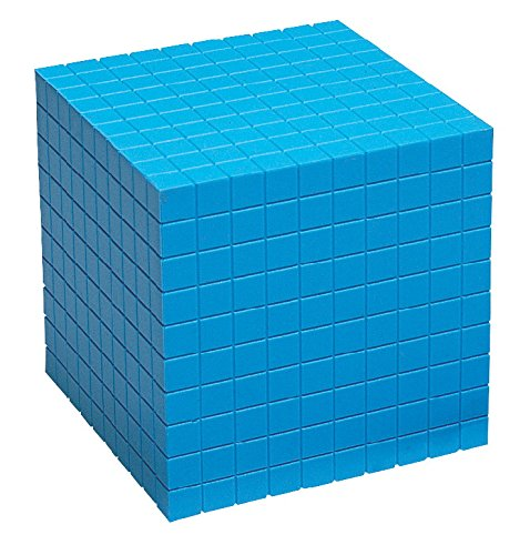 School Smart Base Ten Components - Plastic Cube 10 x 10 x 10 cm - Each ()