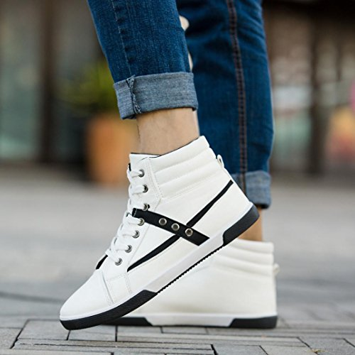 Clearance❤️Men Shoes, Neartime Fashion Men Autumn Leather Footwear Boots High Top Lace-Up Casual Hiking Shoes by Neartime Sandals (Image #7)