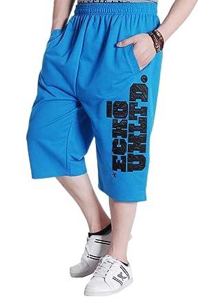 d9c4e3fe2c56d MK988 Men s Big   Tall Plus Size Cotton Elastic Waist Floral Printed Capri  Straight Leg Jogger