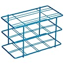 """Bel-Art Scienceware 187940000 Blue Epoxy-Coated Steel Poxygrid 50mL Centrifuge Tube Rack, 5-7/8"""" Length x 3-3/16"""" Width x 3-1/2"""" Height, 8 Places"""