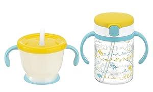 Richell Straw mag Set Yellow 6 Months~