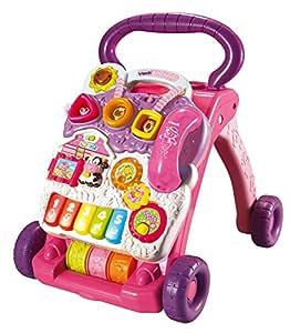 VTech Baby - Correpasillos andandín 2 en 1, Color Rosa, versión en francés