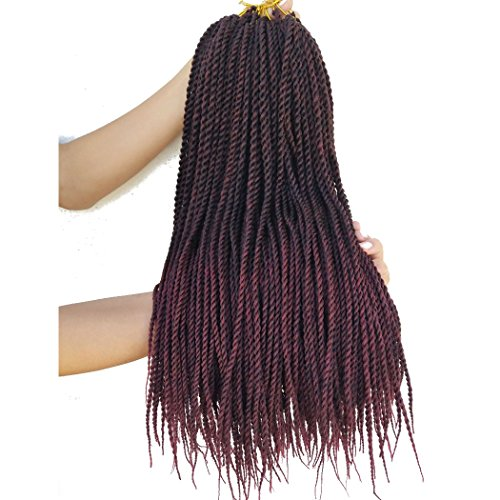 Flyteng senegalese ombre braiding hair 18 inch 8 Packs Synthetic Twist Hair Crochet Braids in USA