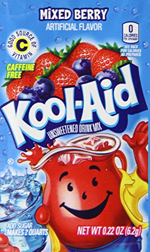 Kool Aid Twists Mixed Berry Unsweetened Soft Drink Mix  0 22 Ounce Packets  Pack Of 96
