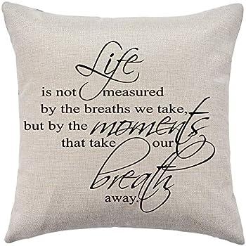 Amazon Com Wflosunve Life Decorative Throw Pillow Cover