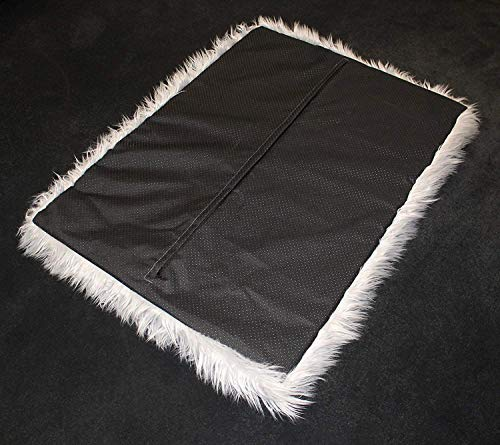 PupRug Faux Fur Memory Foam Orthopedic Dog Bed (Giant - 60'' L x 35'' W, Gray Rectangle) by Treat A Dog (Image #6)