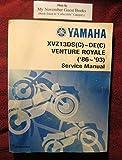 Yamaha XVZ13DS(C)~DE(C) Venture Royale ('86~'93) Service Manual (LIT-11616-XV-14)