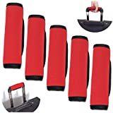 Wanty® Luggage Handle Wraps, Durable New Comfort Neoprene Handle Wraps/Grip/Identifier for Travel Bag Luggage Suitcase (5 Pcs, Red)