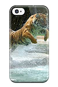 OPChOgf4437uwcqG Tpu Phone Case With Fashionable Look For Iphone 4/4s - Tiger