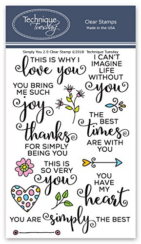 Amazon Simply You 20 Clear Stamps Clear Rubber Stamps