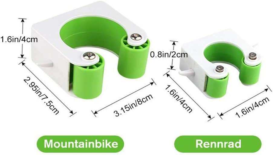 MEIZHEN soporte de pared para interiores y exteriores Soporte de pared para bicicleta sistema de almacenamiento gancho para estacionamiento con tornillos