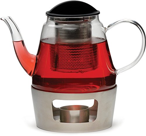 RSVP Glass Teapot and Stainless Steel Warmer by RSVP (Image #1)