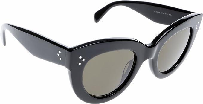 0ca4dfe10347 Celine 41050 S 807 Black Caty Cats Eyes Sunglasses Lens Category 3 Size  49mm  Amazon.co.uk  Clothing