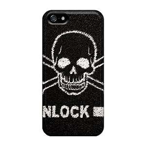 Cute Tpu DavidStu Death Skull Lockscreen Case Cover For Iphone 5/5s