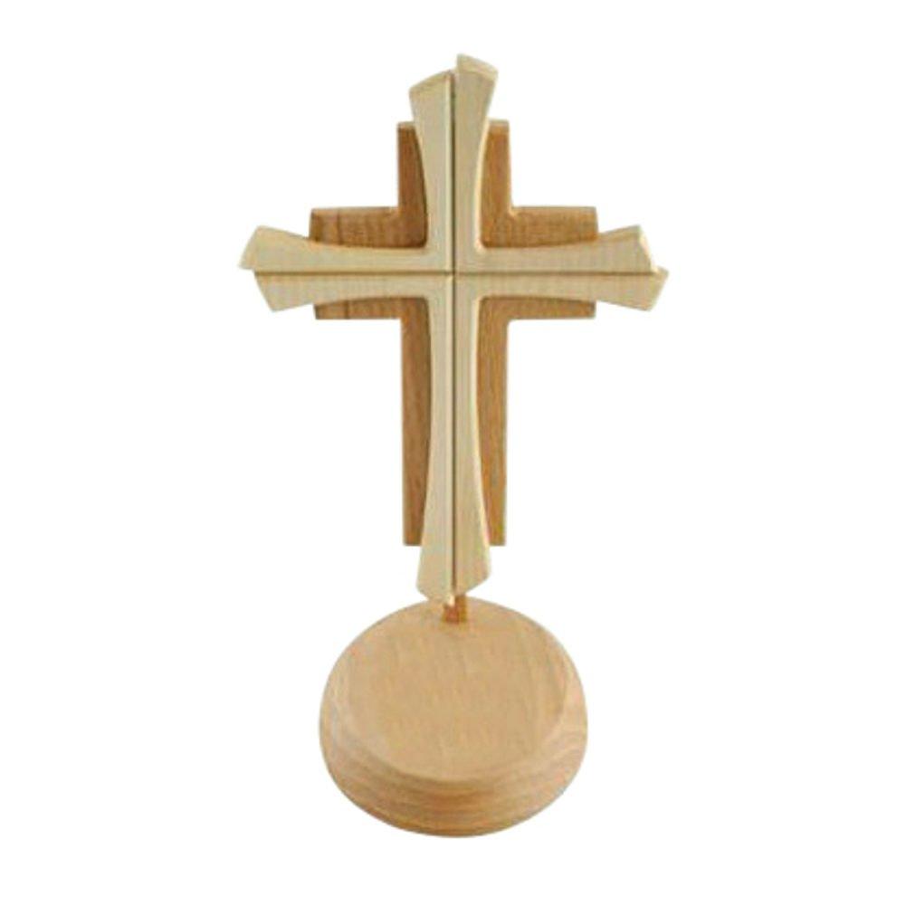 Kruzifix24 Croix devotionalien en Bois 2 Couleurs teintées sans Corps 24 x 14 cm Devotionalien Augsburg