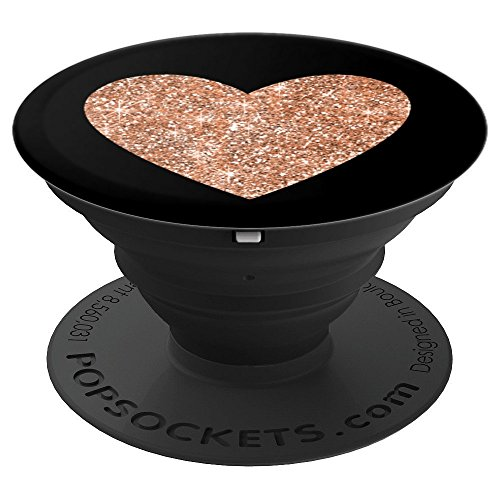 Chic Rose Gold Glitter Pink Heart Gift - PopSockets Grip and Stand for Phones and Tablets -