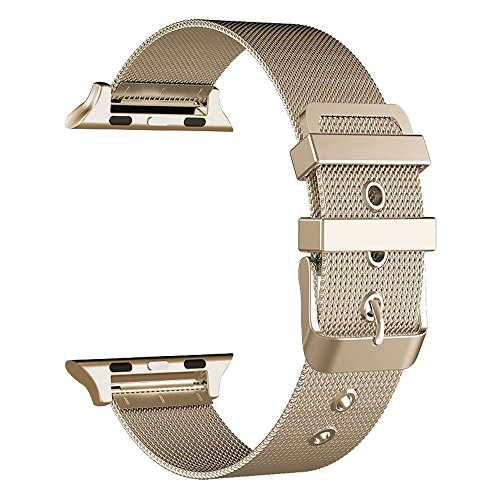 GEOTEL Milanese Stainless Bracelet 38MM CHAMPAGNE