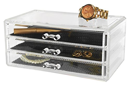 Kiera Grace Jewelry and Cosmetic Organizer, 3 Drawers