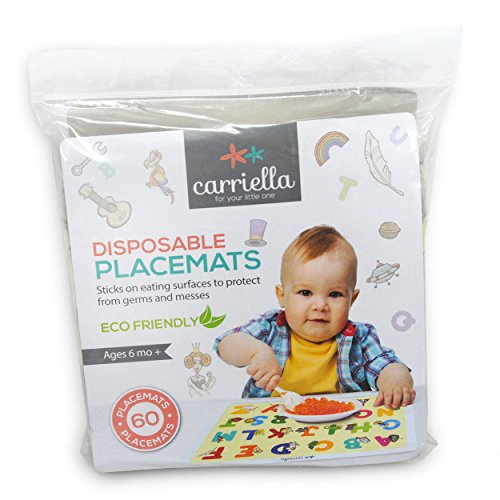 Carriella 60 Count ABC Disposable Placemats for Children Stick on Table Topper by Disposable Placemats (Image #6)