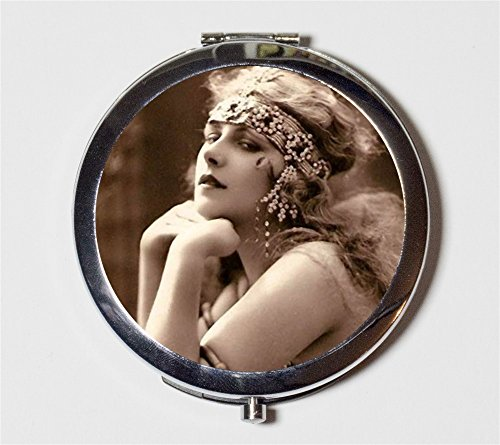 Cleopatra Flapper Compact Mirror 1920s Jazz Age Art Deco Egyptian Revival Belly Dancing Follies Make Up Pocket Mirror for Cosmetics by Fringe Pop