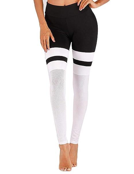 Amazon.com: Didade Leggings deportivos para mujer, de malla ...