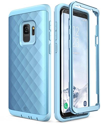 Samsung Galaxy S9 Case, Clayco [Hera Series] Full-body Rugged Case WITHOUT Screen Protector for Samsung Galaxy S9 (2018 Release) (Blue)