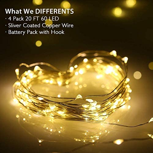 Home Decor Blue Garden Yiding 15//5m 50 LED String Lights USB Charging Remote Controlled Lamp for Party Wedding Festival