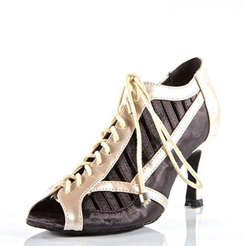 Dance Danse Chaussures Yff 8cm Cadeaux Latine black Tango 35 Femmes wSZtqZE