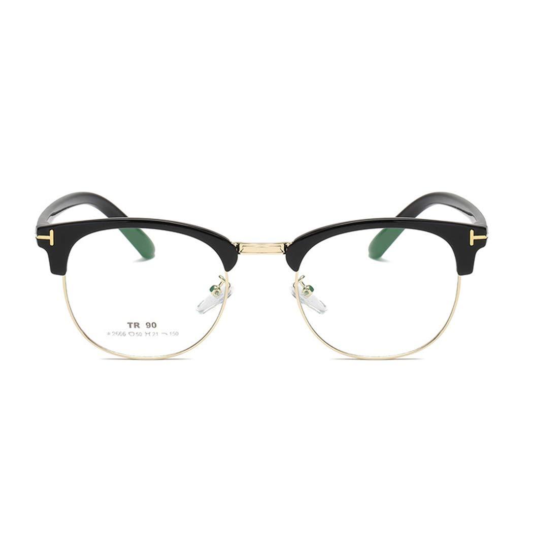 GUKOO Monture semi cercl/ée lunettes de spectacle TR90 optique Verres en vente libre Monture de lunettes transparentes Femme Homme