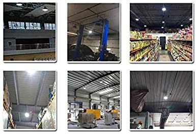 LED High Bay Light Fixture 240W UFO High Bay Lighting Replace 1000W HPS Dimmable Barn Workshop Warehouse Gym Airport Lighting 5000K Daylight IP65 AC200-480V Shenzhen Nuoguan Technology Co ltd NG-UFO-240WH