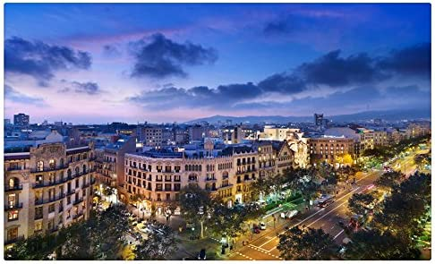 España Cielo Nubes desde arriba calle Barcelona ciudades sitios de viajes postal Post tarjeta: Amazon.es: Oficina y papelería