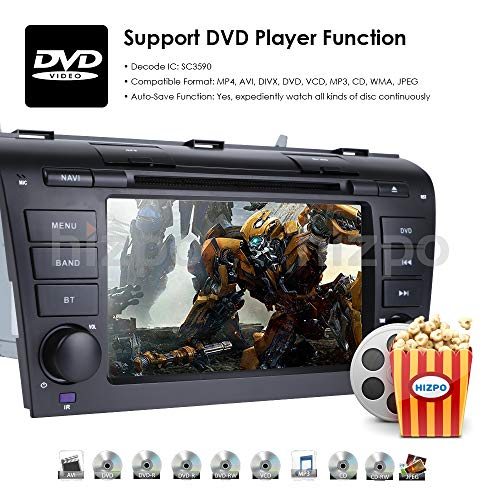 Android 9 0 Quad Core 7 inch Double Din in Dash HD Touch Screen Car DVD  Player GPS Navigation Stereo for Mazda 3 2004-2009 Support