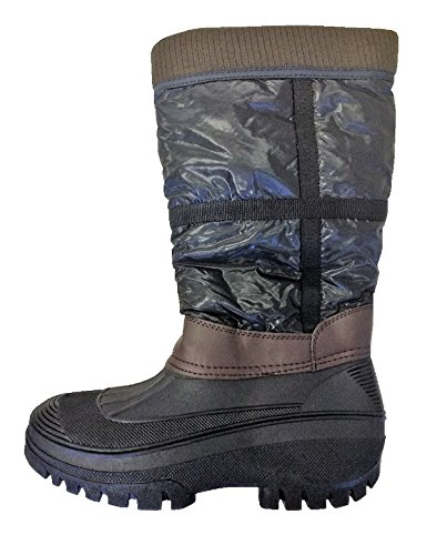 Hkm Mucker Boots - Pull On Horse Riding Equine Winter Yard Stable Fleece Lined Brown/Black