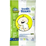 Baby Buddy Tooth Tissues Stage 1 for Baby/Toddler, Bubble Gum Flavor Kids Love, White, 30 Count
