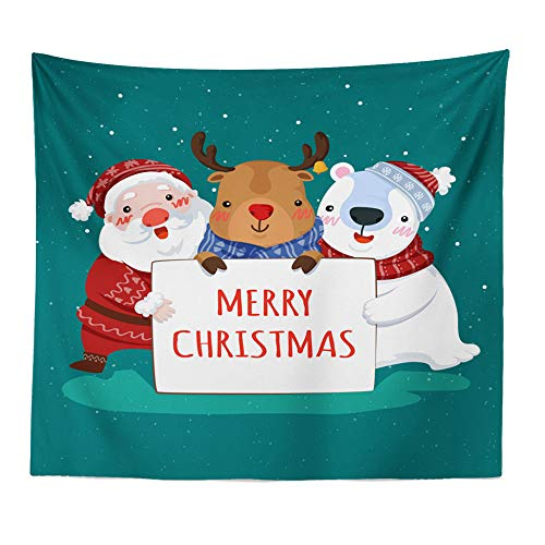 Claus Tapestry - Hot Sale!DEESEE(TM)Art Home Decor Hanging Tapestry Wall Christmas Textile Blanket Santa Claus (G)