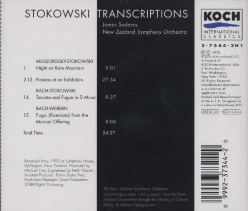 Stokowski Transcriptions - Mussorgsky: Pictures at an Exhibition / Bach: Toccata and Fugue in D minor