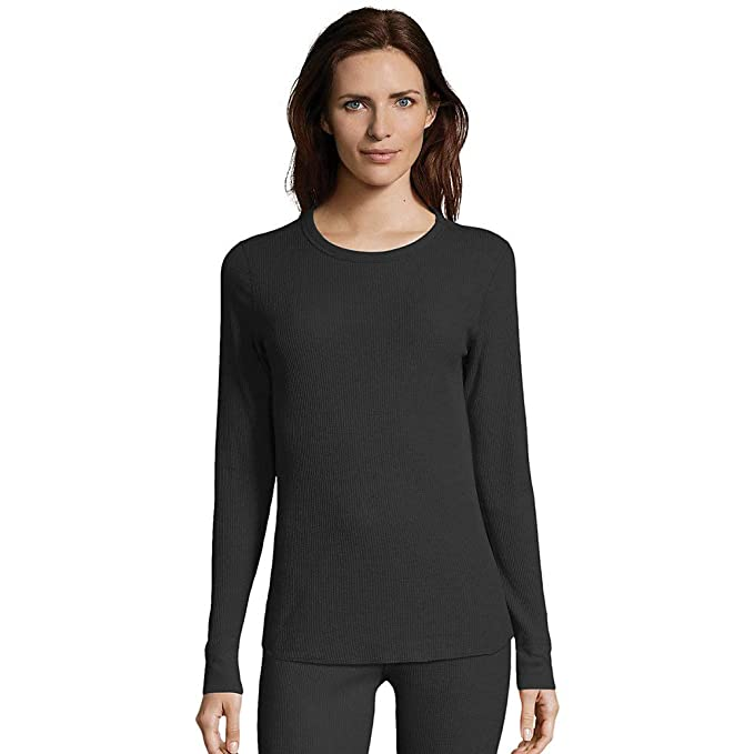 0d5dba880 Image Unavailable. Image not available for. Color  Hanes Women s Plus Size  Waffle Weave Thermal Top ...