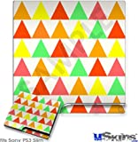 Sony PS3 Slim Decal Style Skin - Triangles Citrus