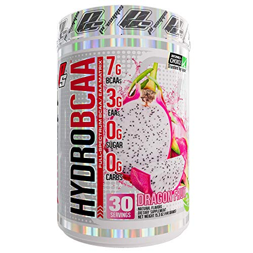 (ProSupps HydroBCAA BCAA/EAA Full Spectrum Matrix, 7g BCAAs, 3g EAAs, 0g Sugar, 0g Carbs, 30 Servings, (Dragonfruit Flavor))