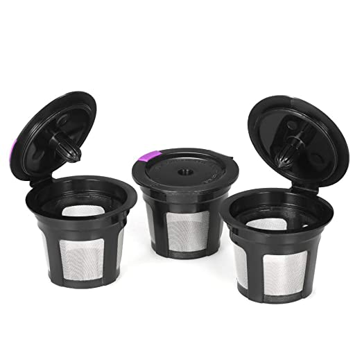 Raitron - Juego de 3 cápsulas de café Reutilizables para cafeteras ...