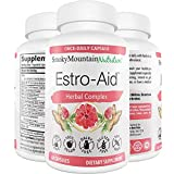 Estro-Aid Menopause Supplement for Relief, Support & Weight Loss. Natural Herbal Complex- Black