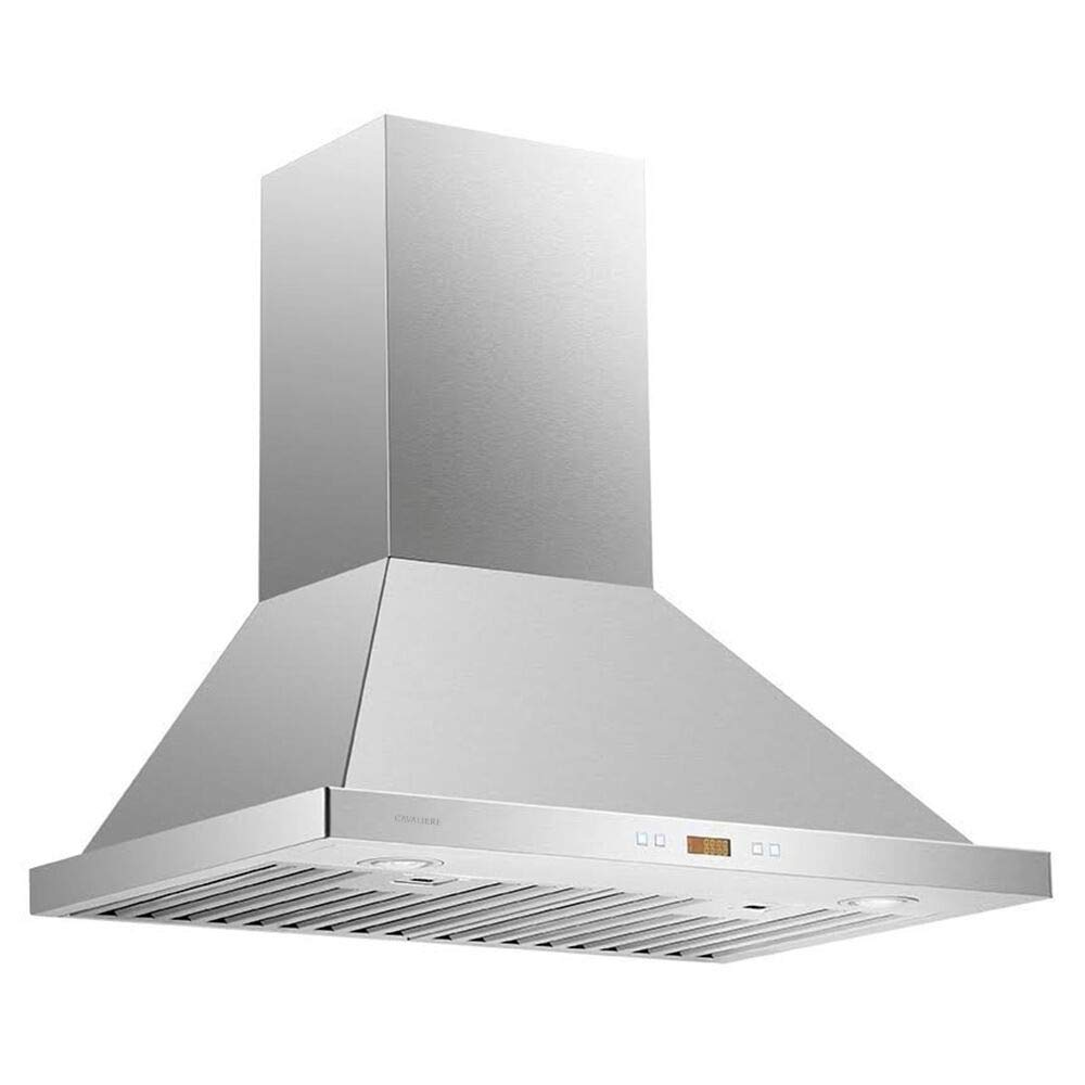 "CAVALIERE 30"" Range Hood Wall Mounted Brushed Stainless Steel Kitchen Vent 900CFM"