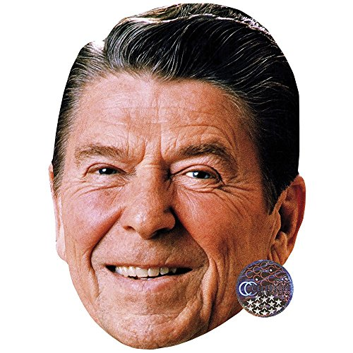 Ronald Reagan Celebrity Mask, Card Face and Fancy