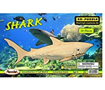 3-D Wooden Puzzle - Shark -Affordable Gift for your Little One! Item #DCHI-WPZ-E001